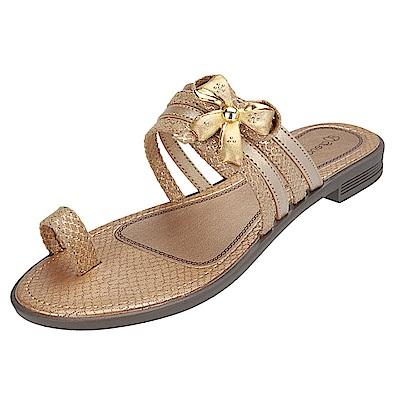 GRENDHA 希臘風情平底鞋-金