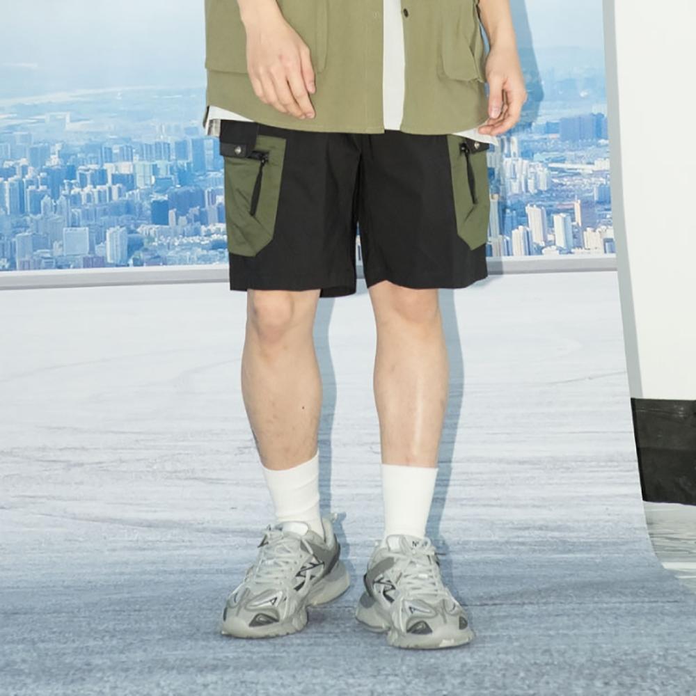 LAKING.LAB-街頭口袋織帶工作短褲