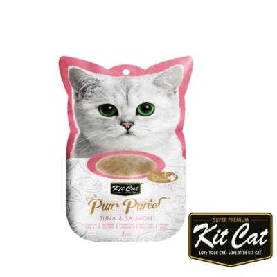 Kitcat呼嚕嚕肉泥- 鮪魚、鮭魚 60g 貓零食 貓肉條 貓肉泥 化毛 牛磺酸