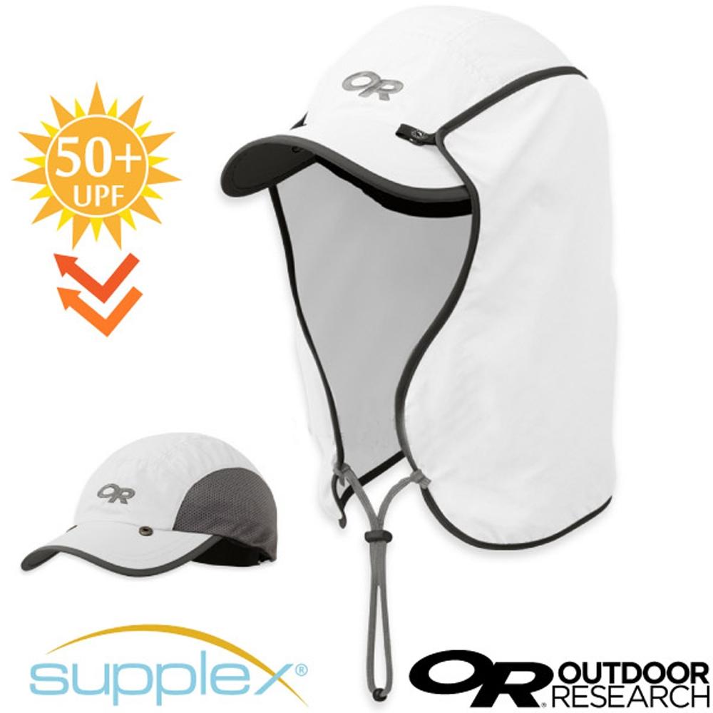 Outdoor Research 抗UV防曬三用可拆透氣護頸棒球帽子(UPF50+)_白色