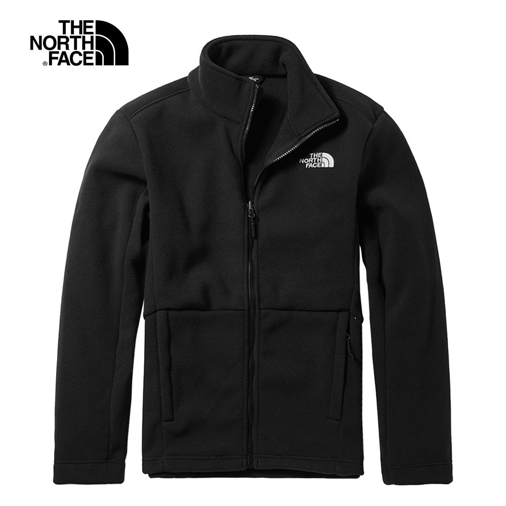The North Face北面男款黑色保暖抓絨外套|CTT7JK3