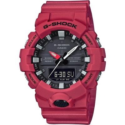 G-SHOCK 絕對強悍黑紅雙顯男錶(GA-800-4A)/48mm