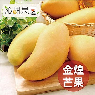 沁甜果園SSN 台南金煌芒果(6-8顆裝,10台斤/箱)