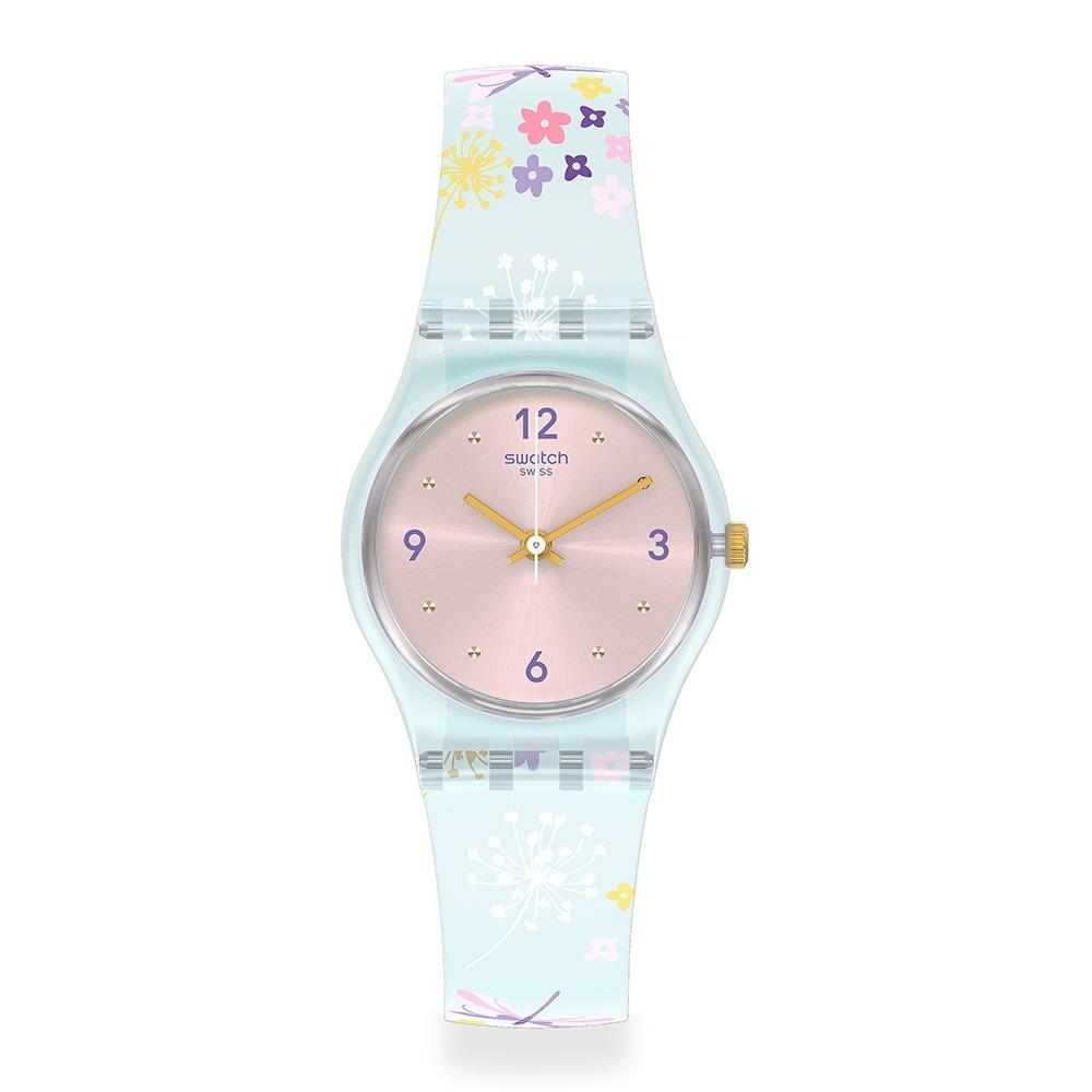 Swatch LovelyGarden系列手錶 ENCHANTED MEADOW 瘋花草-25mm
