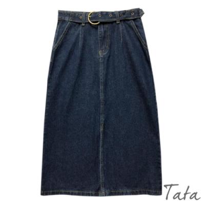 牛仔腰帶環半身裙 共二色 TATA-(S~XL)