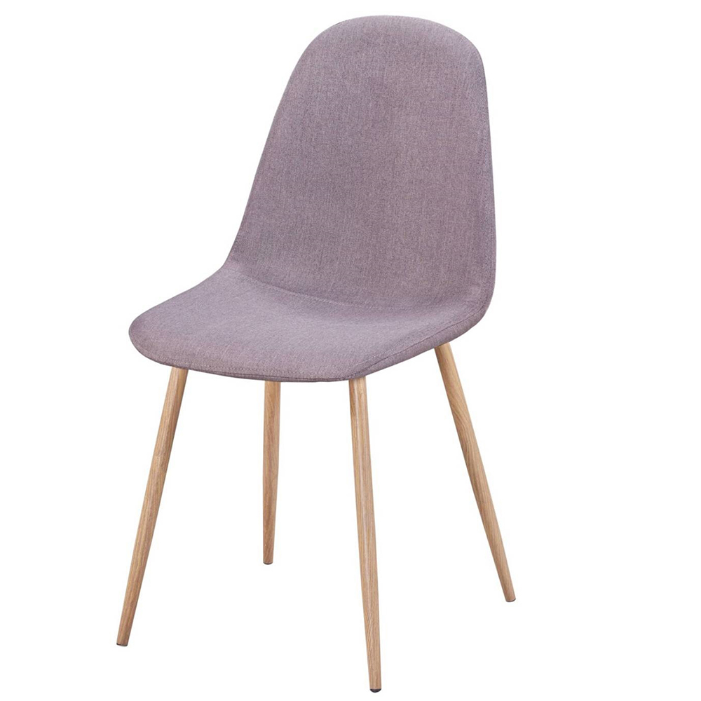 【AT HOME】現代簡約設計鐵藝灰布餐椅/休閒椅(42*55*86cm) 艾蜜雅