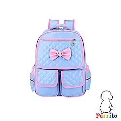Perrito 貝瑞童「公主寶貝」核心護脊兒童書包-藍色