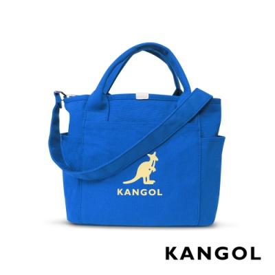 KANGOL 韓版玩色-帆布手提/斜背托特包-正藍 AKG1216-42