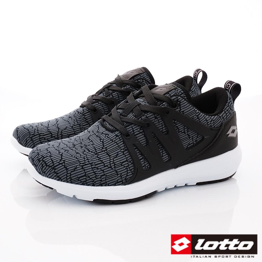 Lotto樂得-潮流都會跑鞋款 SI930黑(女段)