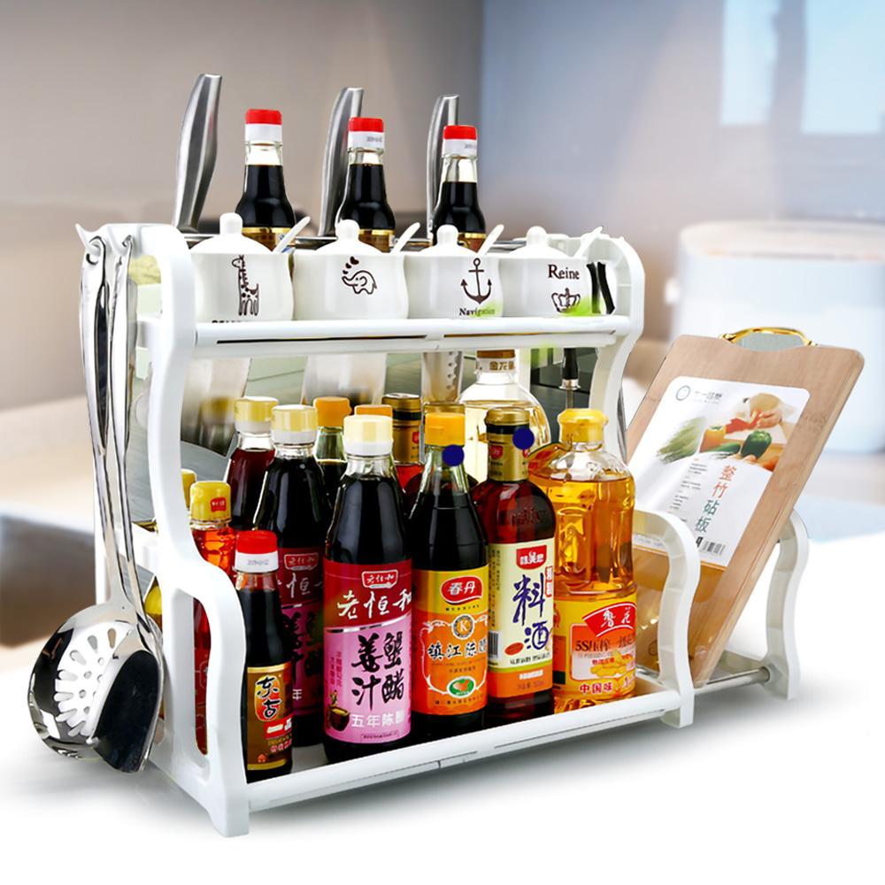 EZlife廚房刀架帶砧板整理收納架(贈便攜敲擊冰包6入試用組)