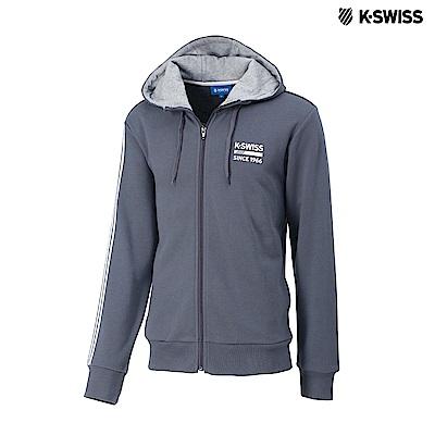 K-SWISS High Front Hoodie JKT連帽外套-男-灰