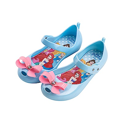 迪士尼童鞋 公主系列 魔鬼氈公主鞋 娃娃鞋-水藍
