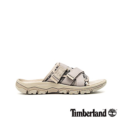 Timberland 男款陰灰色迷彩拖鞋|A1ZS4