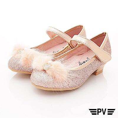 PV日系私藏 鑽飾短跟公主鞋款 8531粉(中小童段)