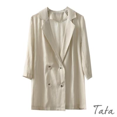 雙排扣薄外套 TATA-(M/L)