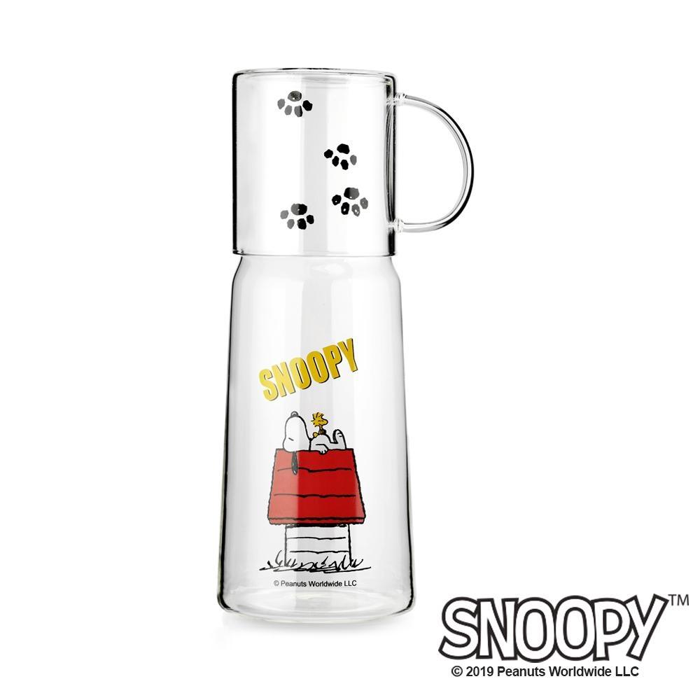 史努比SNOOPY 耐熱玻璃杯壺套組950ml(快)