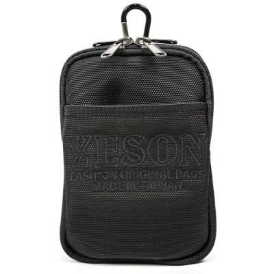 YESON - 可腰掛可肩背雙層腰包MG-685-17-黑