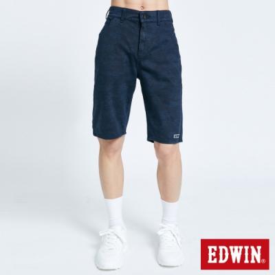 EDWIN JERSEYS 迦績 EJ2 棉涼感迷彩短褲-男-黑藍