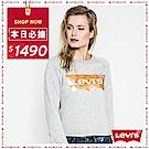 Levis 圓領大學T 女裝 金色LOGO