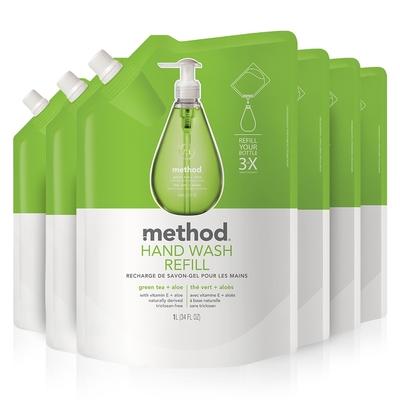 Method 美則 綠茶蘆薈洗手乳(補充包)1000ml x 6包