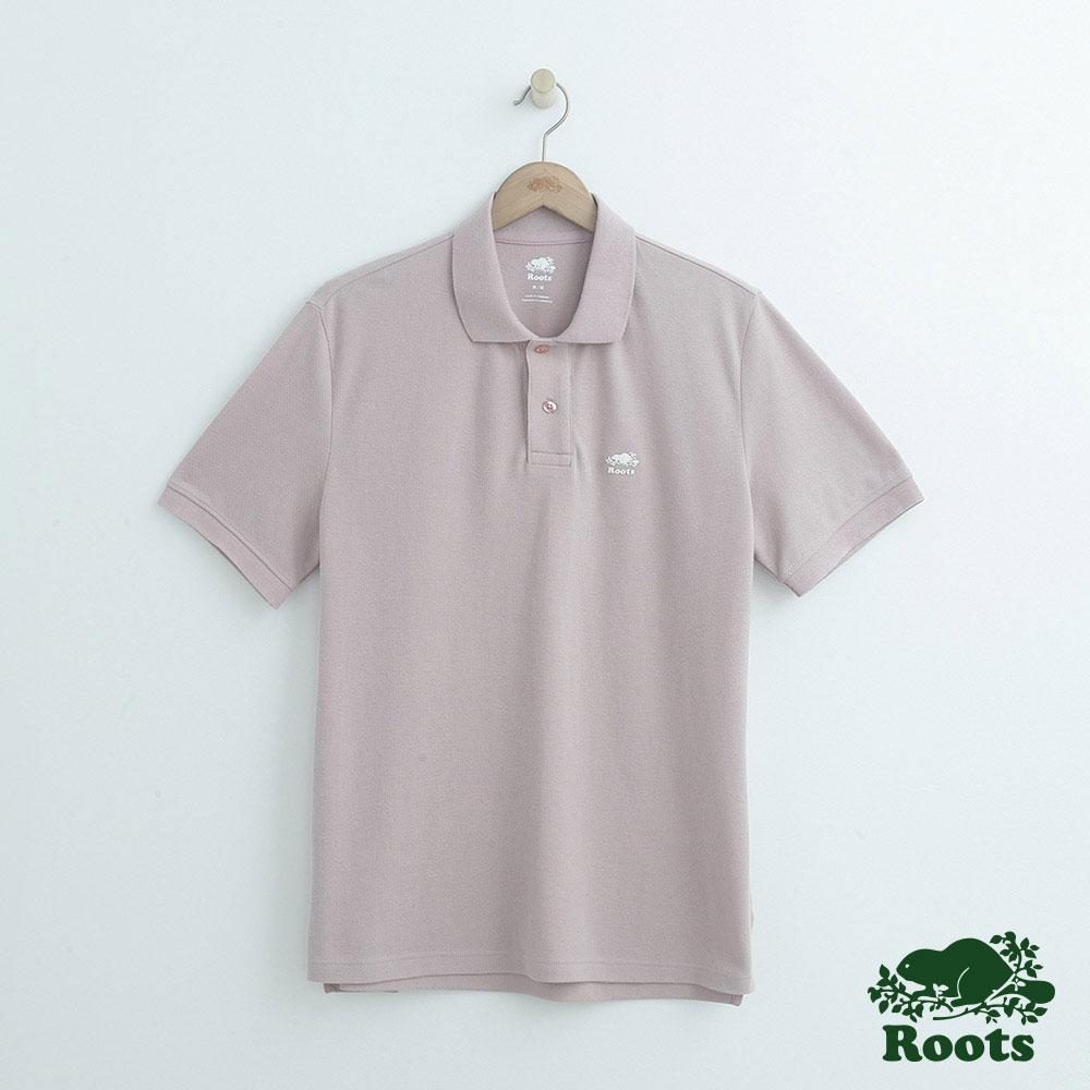 男裝Roots 經典短袖POLO衫-粉