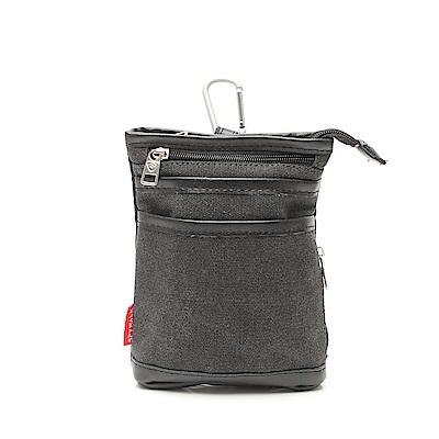 DF BAGSCHOOL - 新宿日系型男款皮革帆布2用包-黑色