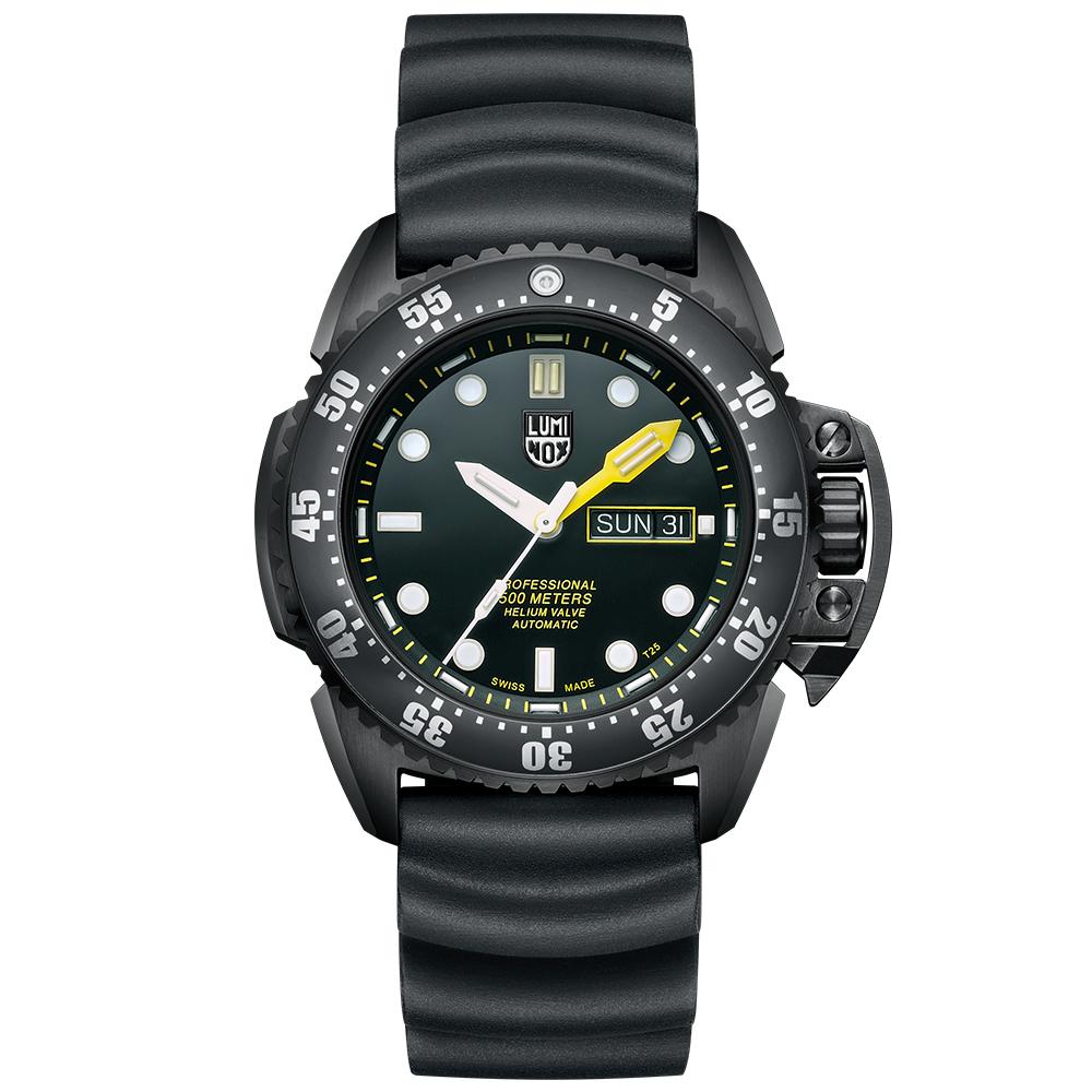 LUMINOX 雷明時 500米專業潛水機械錶-黑x白時標/44mm