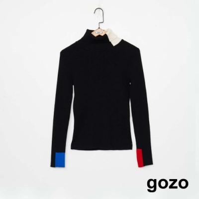 gozo 色塊拼接高領針織衫(三色)