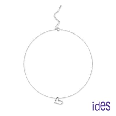 ides愛蒂思 日韓時尚設計純銀晶鑽項鍊/心情