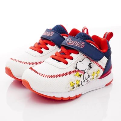 SNOOPY童鞋 史努比棒球風運動鞋款 NI5319白(中小童段)