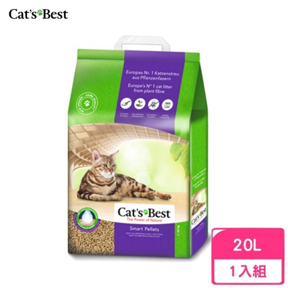 德國凱優Cat′s Best-特級無塵凝結木屑砂(紫標凝結型) 20L/10kg