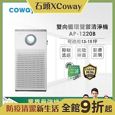 Coway 經認證抑制冠狀病毒 15坪 綠淨力雙向循環雙禦空氣