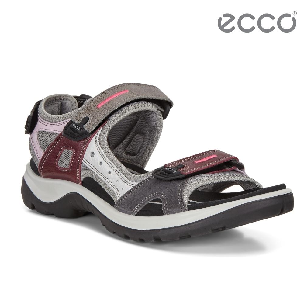 ECCO OFFROAD 越野亮彩戶外運動涼鞋  女鞋-多色/紫色