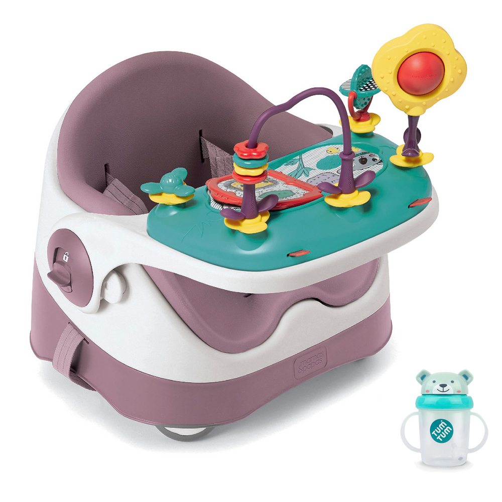 【Mamas & Papas】三合一都可椅/餐椅含玩樂盤-乾燥玫瑰(CF) @ Y!購物