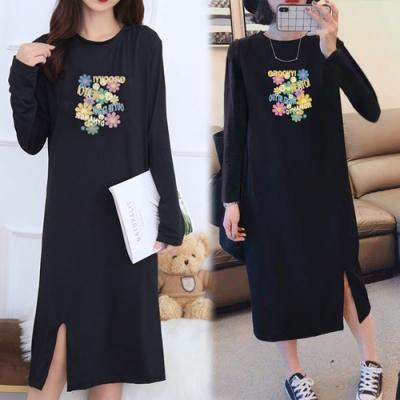【KEITH-WILL】(預購)聖滿花朵時尚兼休閒洋裝(共1色)