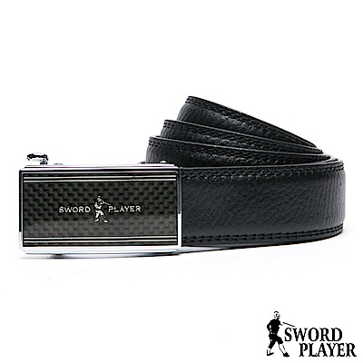 SWORD PLAYER - 莎普爾方格款皮革式自動扣皮帶