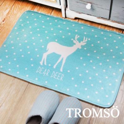 TROMSO簡單生活超柔軟地墊-M105綠點小鹿