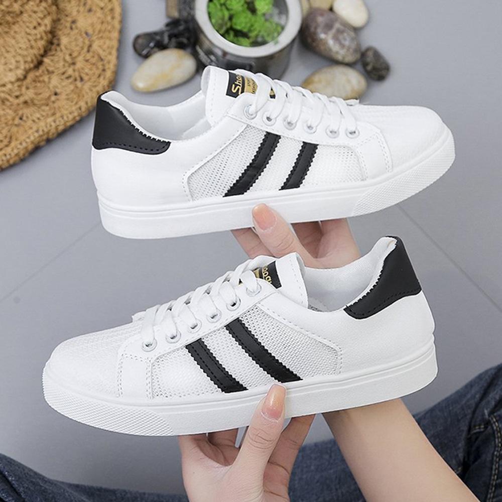 韓國KW美鞋館-獨賣簡約時尚休閒鞋(輕量 運動鞋 休閒鞋)(共2色) (黑色)