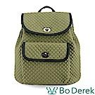 Bo Derek 經典菱格紋水桶後背包-綠色
