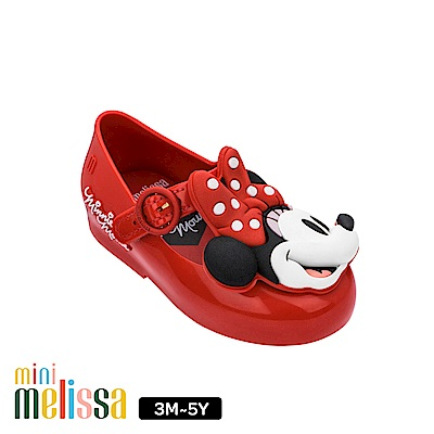 Melissa Mickey聯名款 米妮Face娃娃鞋(寶寶款)-紅