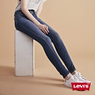Levis 女款 311 中腰緊身縮腹牛仔褲 中藍刷白 彈性布料