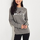 HCO Hollister 海鷗 經典刺繡大海鷗文字長袖T恤(女)-灰色