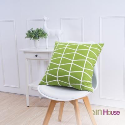 IN HOUSE 簡約系列抱枕-交錯綠(50x50cm)
