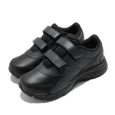 New Balance 休閒鞋 680 Wide 寬楦 童鞋 紐巴倫 魔鬼氈 皮革 簡約 中大童 黑 YU680BBW