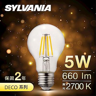 喜萬年SYLVANIA LED經典款燈絲燈泡 A60 黃光2700K