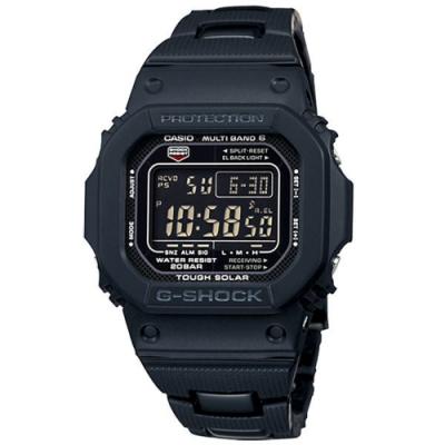 CASIO G-SHOCK系列 前衛專屬電波運動腕錶(鋼帶-黑)