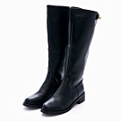 G.Ms. 金屬鎖釦拉鍊軍長靴-黑色