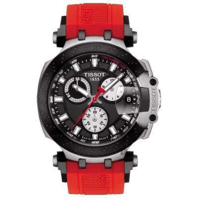 TISSOT 天梭 T-RACE 三眼計時石英手表 (T1154172705100)