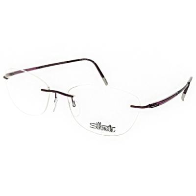 Silhouette詩樂眼鏡  純鈦輕盈無框款/紫#ST5540-JM 4042