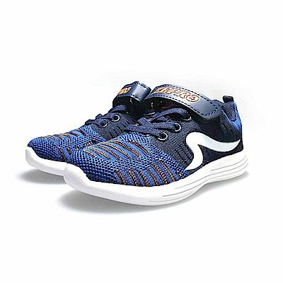 【ZEPRO】SPEED流速飛織輕量運動鞋(中童)-藍